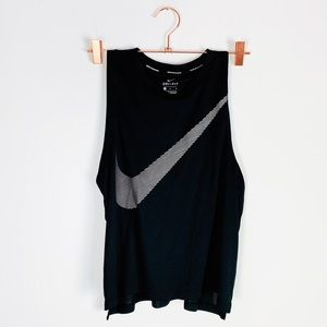 NIKE Running Black Swoosh Workout Tank Top m